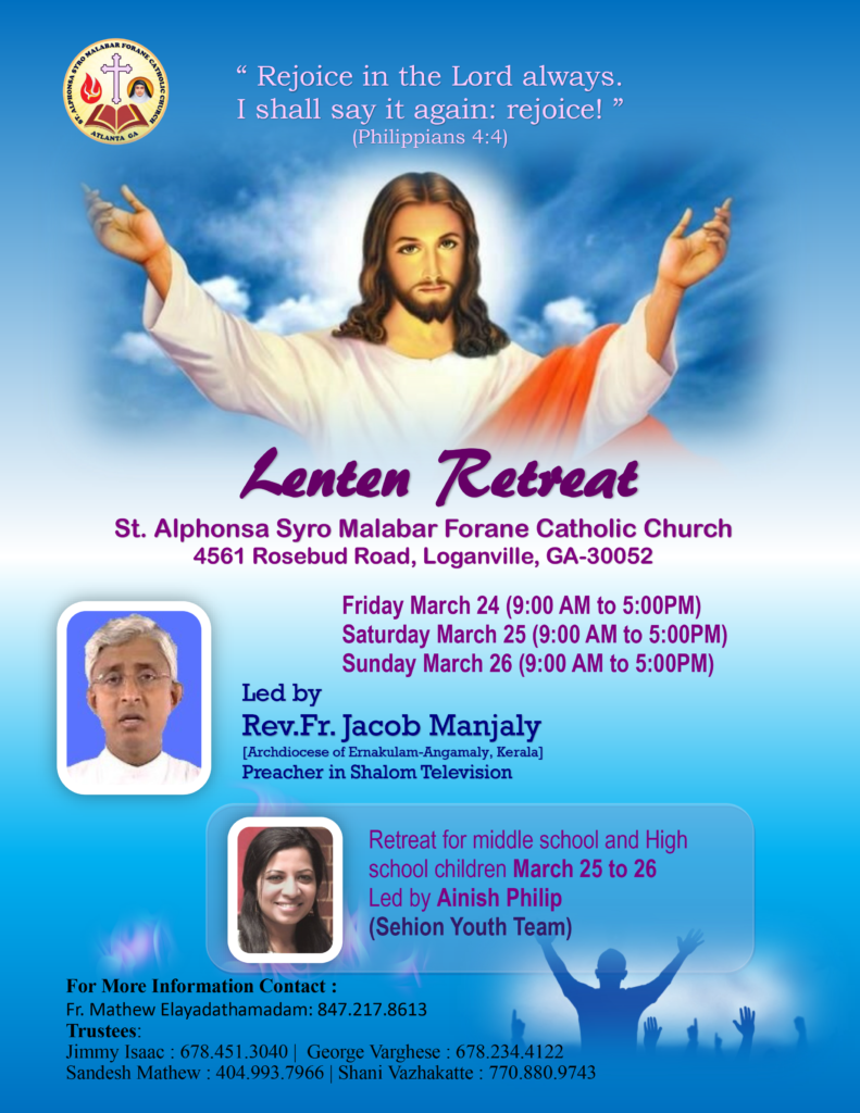 Lenten Retreat 2017