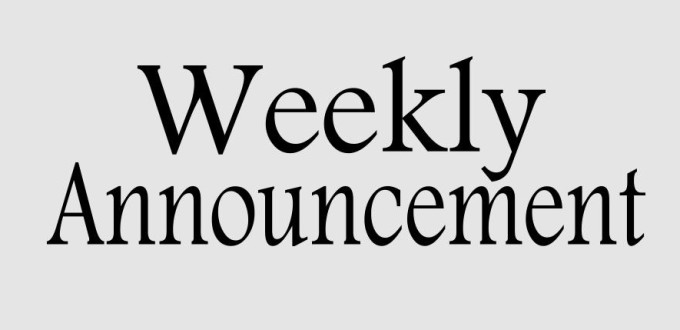 weekly-announcements